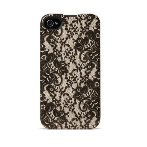 Agent18 9527 ForceShield Limited for iPhone 4/4S - Face Plate - Retail Packaging - Victoria/Brown lace Agent 18 Shock Shield