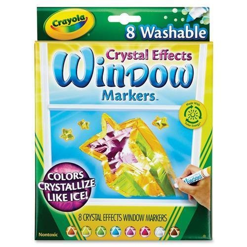 크래욜라 Crayola Window Markers with Crystal Effects
