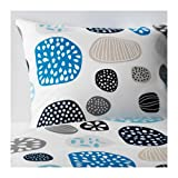 Ikea Duvet cover and pillowcase(s), blue white, multicolor King Size