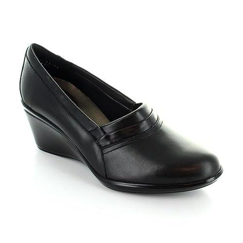 nuevo producto fbc2f 74ac2 Flexi Mocasines de Vestir para Mujer Piel Negro 45502