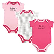 Luvable Friends Baby Sayings Bodysuit 3pk, Girl Mommy, 6-9 Months