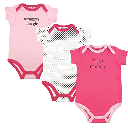 Luvable Friends Baby Girls' Cotton Bodysuits,