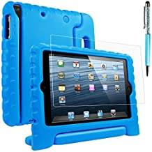 Protective Case for iPad Mini 1 2 3 with Screen Protector and Stylus, AFUNTA Shockproof Convertible Handle Stand EVA Case, PET Plastic Cover and Touch Pen for Tablet Apple iPad Mini - Blue