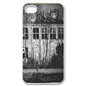 Kweet Empty Building Case for IPhone 4/4s Mens Designer, Case for Iphone 4 4s for Girls Protective with White