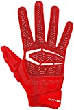 Cutters Gloves S652 Gamer 3.0 Padded Receiver Gloves, Red, Large