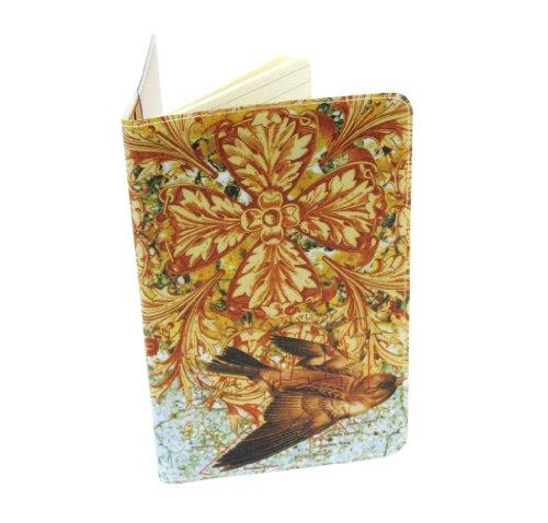 Ornate Bird Journal (Diary, Notebook) w/ Moleskine Cahier Pocket Cover