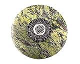 Genuine Irish Connemara Marble/ Mullingar Pewter Paperweight ''Ireland Shamrock Design''