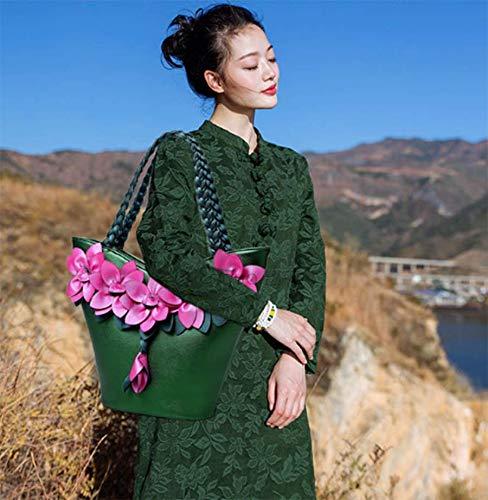 OHmais PU femme Sac porté fille épaule pour bandoulière Sac en Vert à main Cuir Sac zqrw7xORzC