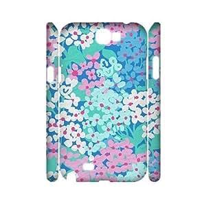Blue Flowers 3D For SamSung Note 3 Case Cover custom ygtg613160