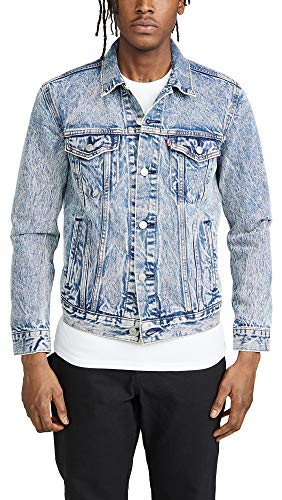 Levis Red Tab Men's The Trucker Denim Jacket, Crumpled Dollar, Large (Levis Red Tab Jeans Men)