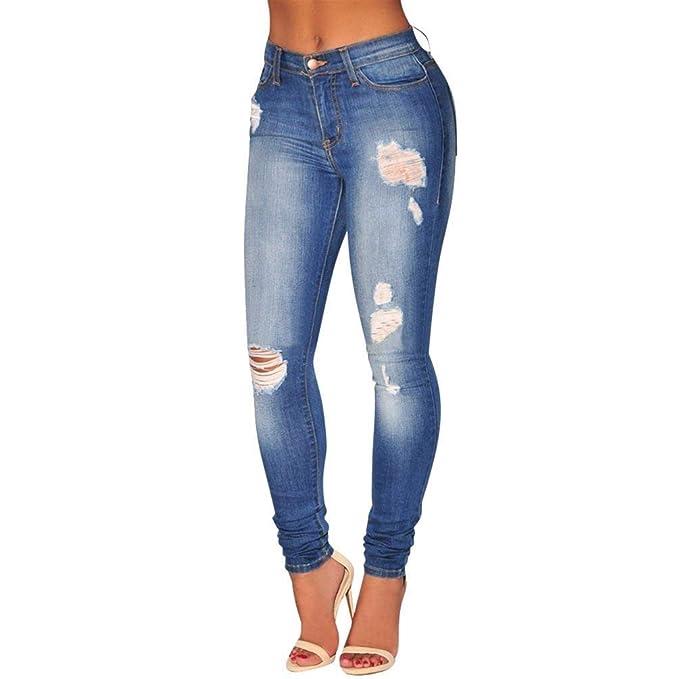 BIRAN Pantalones Vaqueros para Mujer Pantalones De Vaqueros ...