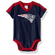NFL New England Patriots Boys Dazzle Bodysuit, 6-12 Months, Navy