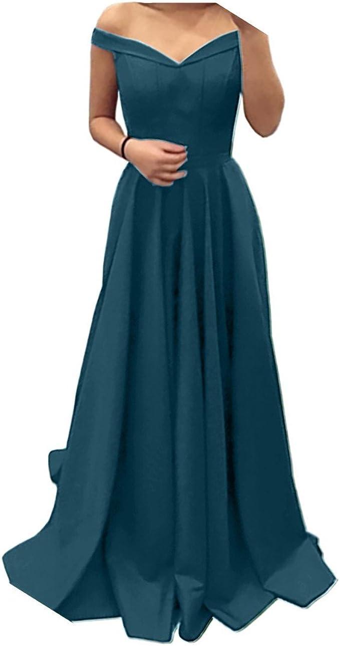 Charmant Damen Rot Einfach V-Ausschnitt Abendkleider Abschlussballkleider  Partykleider Promkleider Lang A-Linie Rock