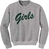 FerociTees Crew Girls Shirt Rachel Monica (Green) Adult Medium Heather Grey