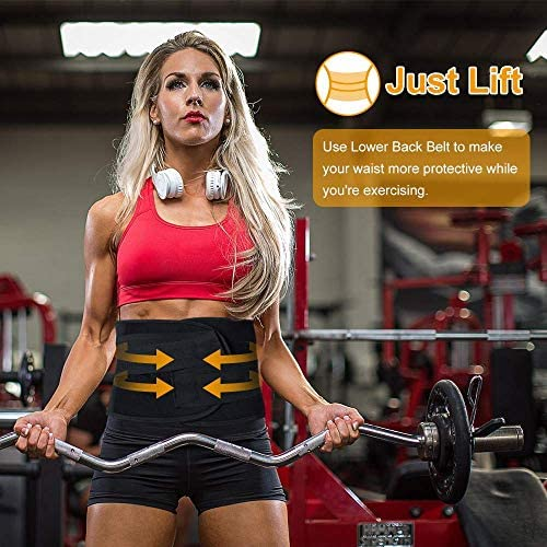 Aaiffey Lower Back Brace - Lumbar Support for Women & Men -Adjustable Compression & Breathable Waist Trainer Belt Weight Loss for Gym, Posture, Pain Relief 5
