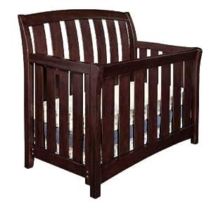 Westwood Design Brookline Convertible Crib with Toddler rail, Chocolate Mist