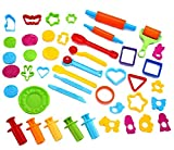 PeeNoke Toy 44 Pieces Clay Dough Tools Kit with Models and Molds.