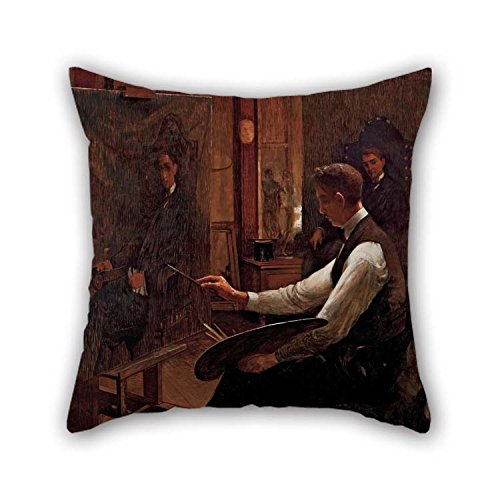 16 X 16 Inches / 40 by 40 cm Oil Painting Arthur Tim??Theo Da Costa - in The Studio Pillow Cases Double Sides Ornament and Gift to Lounge Girls Dance -