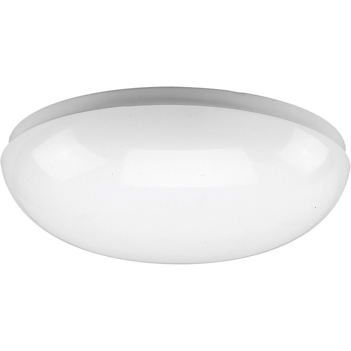 Progress Lighting P7385-30 White Contoured Acrylic Clouds with Twist On Installation For Wall Or Ceiling Mount with Standard 120 Volt Normal Power Factor Ballasts, White