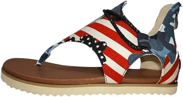 HTHJSCO Women's Summer Flat Sandals