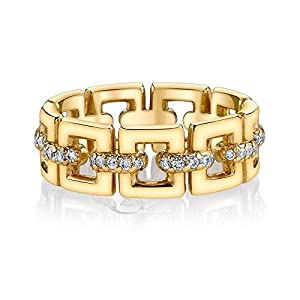 Pretty Jewellery 14K Gold Over Sterling Silver Round Simulated Diamond Wedding Band Ring