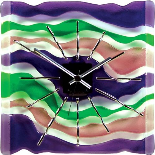 Fused Art Glass Wall Clock Maestro