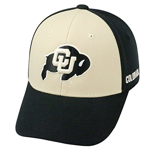 Top of the World NCAA-Premium Two Tone-One-Fit-Memory Fit-Hat Cap-Colorado (2 Tone Ncaa Cap)