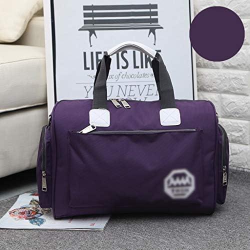 ユニセックス多彩なワンショルダー週末旅行バッグ大容量防水ゴルフ衣料品収納袋 メタルジッパー9色 HMMSP (Color : A)