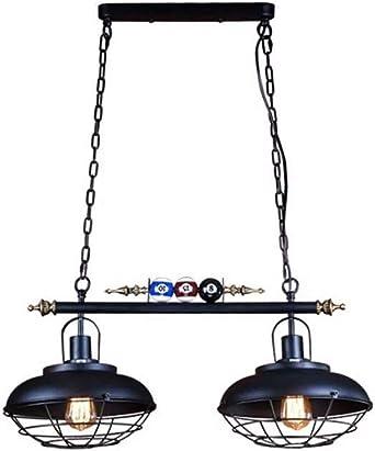 vintage lámpara colgante de billar de hierro de estilo industrial ...