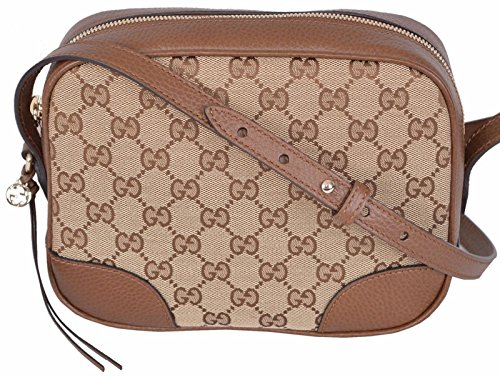 d17e9b796216 Gucci Women's Beige Canvas Leather GG Guccissima Bree Crossbody Purse