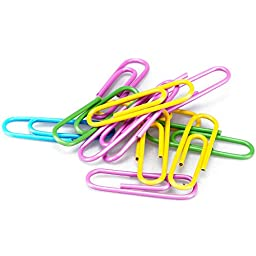 Coolrunner 30pcs 6 Color 4 Inches Large Metal Paper Clips