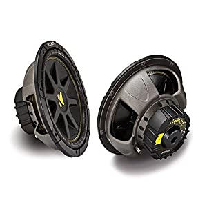 2 X Kicker 10C124 Comp 12''-Inch 600W Max Power EACH Car Sub woofer 4 ohm SVC