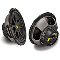 2 X Kicker 10C124 Comp 12-Inch 600W Max Power EACH Car Sub woofer 4 ohm SVC