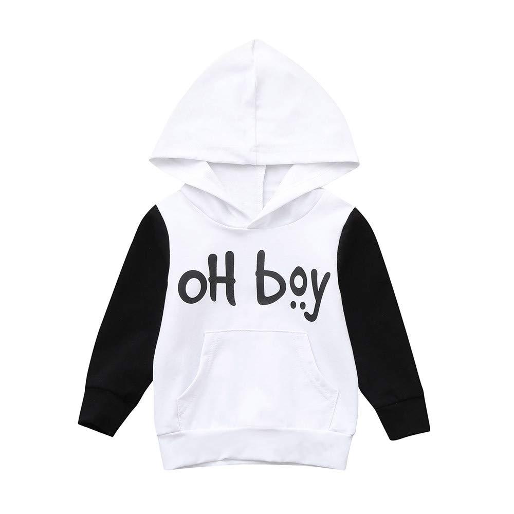 EnjoCho Fashion Newborn Baby Girls Boys Clothes Letter Hooded Tops+Plaid Pants 2PC Sets