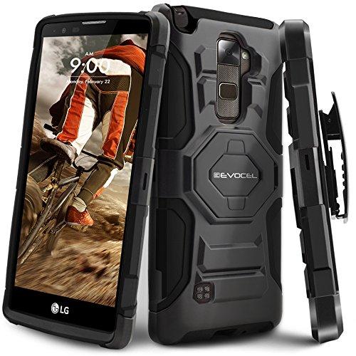 LG Stylo 2 / LG Stylo 2 V Case, Evocel [New Generation Series] Belt Clip Holster, Kickstand, Dual Layer for LG G Stylo 2 (LS775) / LG Stylo 2 V (VS835), Black (EVO-LGLS775-XX01)