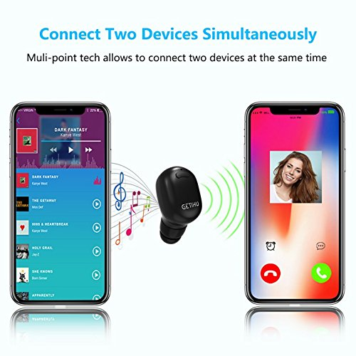 51d47b575da GETIHU Bluetooth Earbud Mini Invisible Wireless in-Ear Headphone with 6  Hours Playtime with Mic