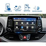 LFOTPP 2017-2018 Hyundai Elantra GT Blue Link 8 Inch Car Navigation Screen Protector, [9H] Tempered Glass Infotainment Center Touch Screen Protector Anti Scratch High Clarity