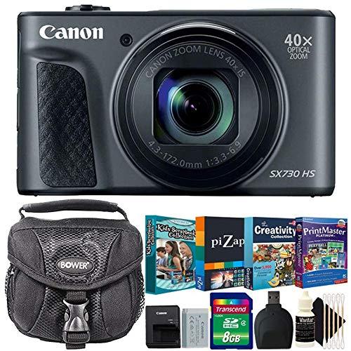キヤノン PowerShot SX730 HS 20.3MP 40X 光学ズーム デジタルカメラ ブラック 写真編集 キッズ スクラップブックコレクション バンドル   B07KGK4N65