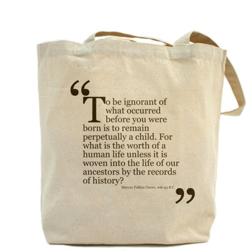 Cafepress – Life of our Ancestors – Borsa di tela naturale, tessuto in iuta