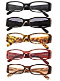 5-Pack Ladies Reading Glasses Includes Sunshine Readers for Women +1.75 Larger Image