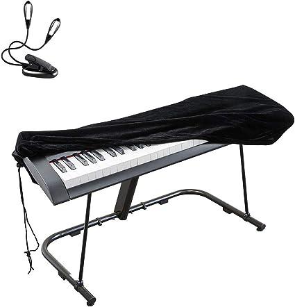 Cubierta antipolvo de teclado de piano 2 piezas para 88 ...