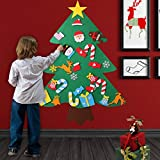 beautiful christmas decorations O-Heart 3ft DIY Felt Christmas Tree with 27pcs Detachable Ornaments Wall Hanging Christmas Door Decorations Christmas Gifts for Kids