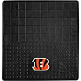 DH 31 X 31 Inches NFL Bengals Cargo Mat, Football Themed Car Flatbed Trunk Vinyl Square Trunk Carpet Sports Patterned, Team Logo Fan Merchandise Athletic Team Spirit, Orange Black White
