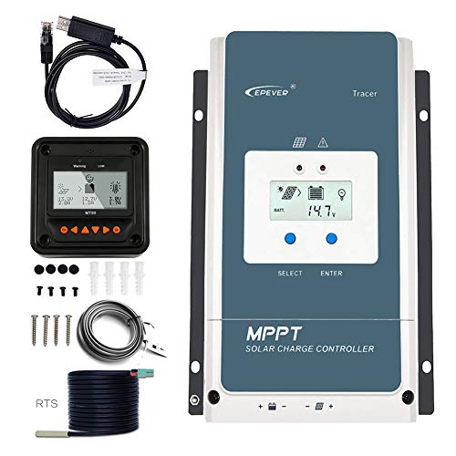 EPEVER MPPT Charge Controller 60A, Solar Panel Controller 48v/36v/24v/12v Auto Max 150V 3000W Input Negative Ground Solar Regulator fit for Lead-Acid AGM Sealed Gel Flooded Battery
