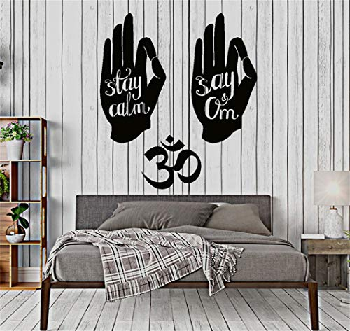 Vinyl Wall Lettering Stickers Quotes and Saying Funny Yoga Buddha Stay Calm Say Om]()