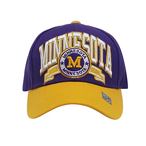 Unisex Team Color City Name Embroidered Baseball Cap Hat (Minnesota)
