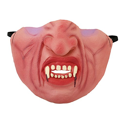 Zombie Ghost Face Adult Plus Mask (Elaco Halloween Ghost Mask Funny Latex Half Face Pig Zombie Horror Mask (A))