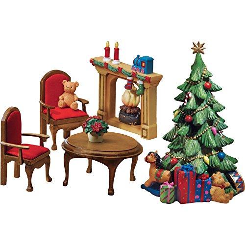 Collectible Miniature Christmas Furniture Set