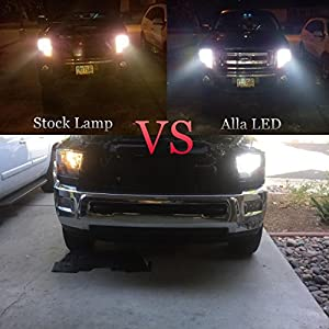 Alla Lighting 8000lm Xtremely Super Bright 6500K Xenon White High Power Mini 9006 HB4 LED Headlight Low Beam Headlamp Conversion Kits Lamps Replacement