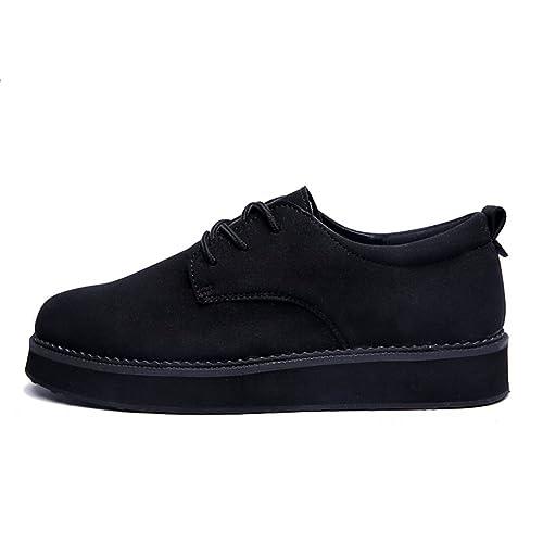 Caída Estilo Moda Hombres Zapatos de Inglaterra/Zapatos Altos de Plataforma/ Zapatos del Estudiante: Amazon.es: Zapatos y complementos